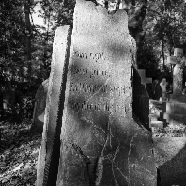 """Highgate Grave"" stock image"
