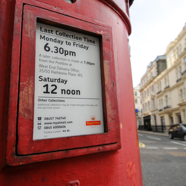 """Post Box"" stock image"