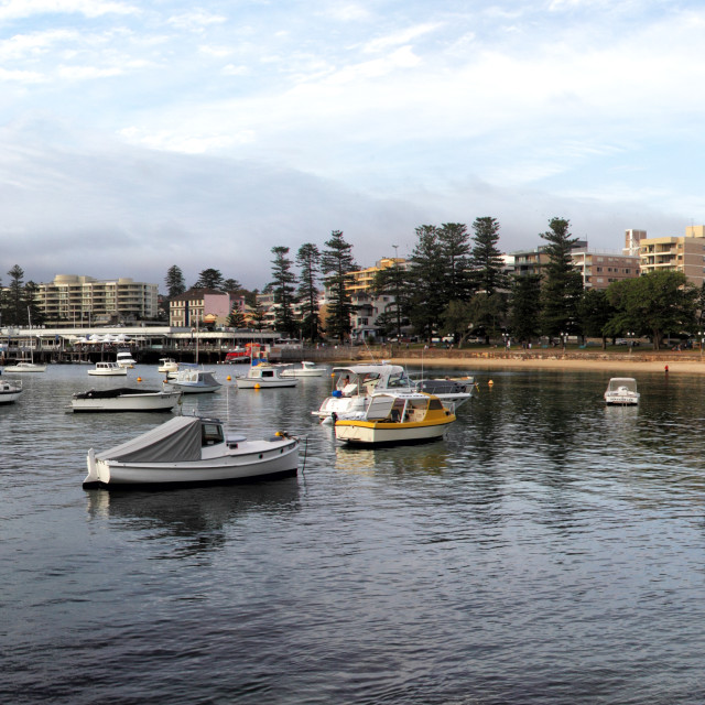 """""""Manly Cove"""" stock image"""