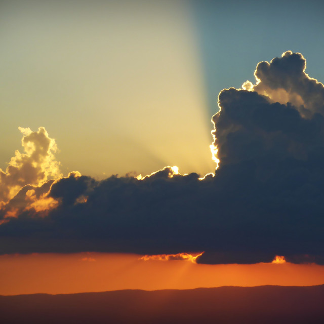 """""""Big ski sunset"""" stock image"""