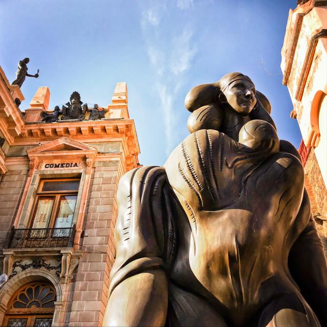 """""La Giganta"" bronze sculpture"" stock image"