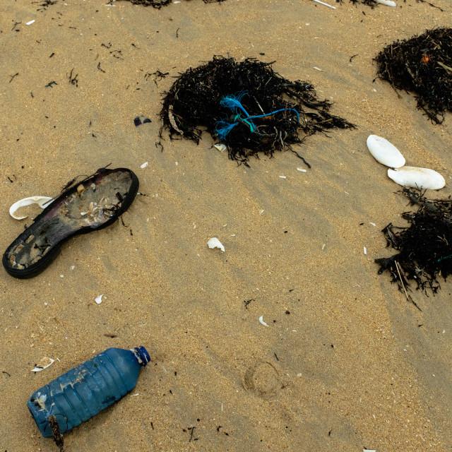 """Beach Garbage."" stock image"