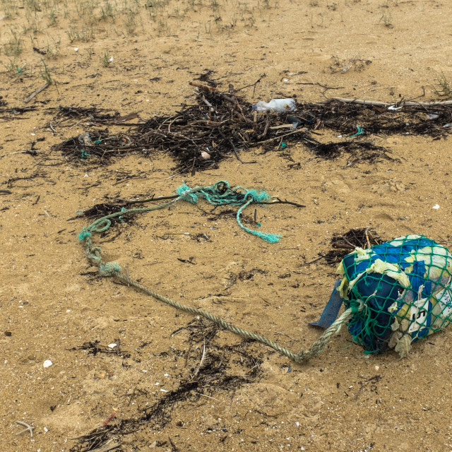 """Beach Rubbish"" stock image"