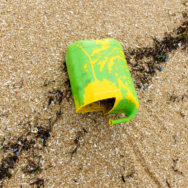 """Beach Plastic Pollution."" stock image"