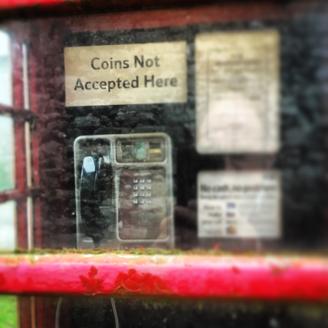 """""""Coins not accepted"""" stock image"""