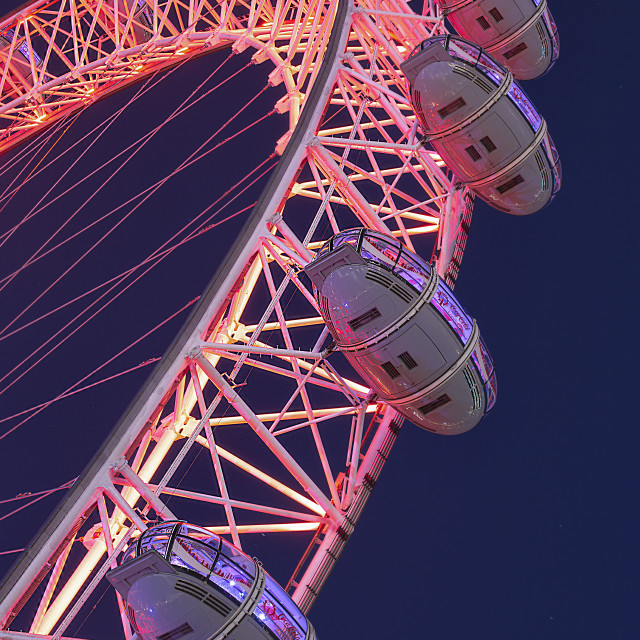 """Red - London Eye"" stock image"