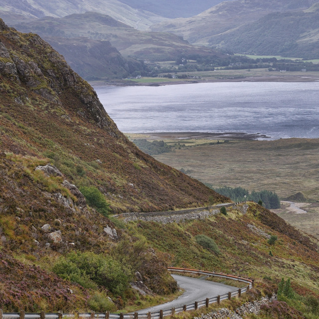 """Highland Road to Kylerhea, Isle of Skye"" stock image"