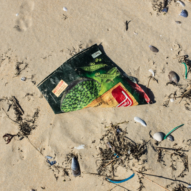 """Beach Pollution."" stock image"