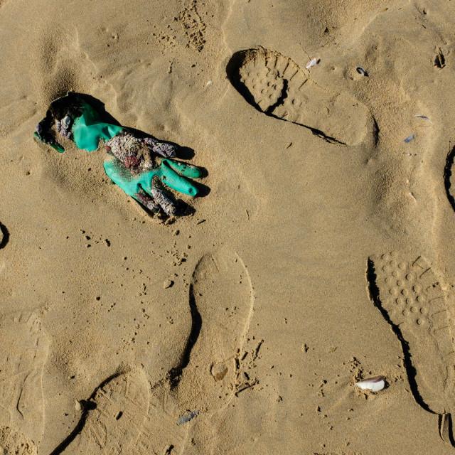 """Beach Pollution."" stock image"