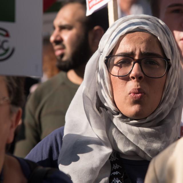 """""""Gaza: Stop the Massacre, London, UK"""" stock image"""