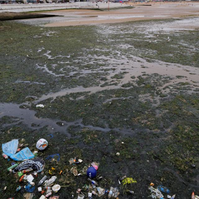 """Coastal Litter (War on Plastic), Margate"" stock image"