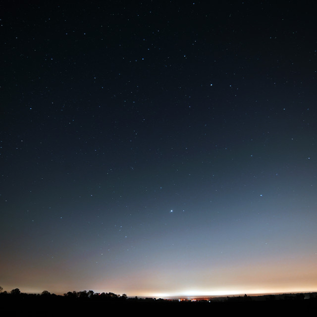 """Essex under the stars at night"" stock image"