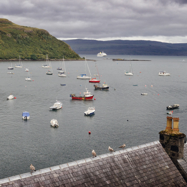 """""""The harbour at Portree, Isle of Skye"""" stock image"""