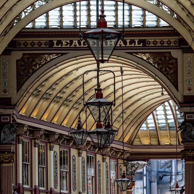 """Leadenhall Market London"" stock image"