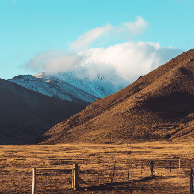 """New Zealand Road landscape"" stock image"