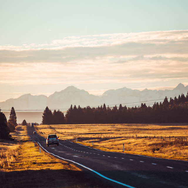 """New Zealand Road"" stock image"