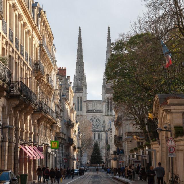 """BORDEAUX, FRANCE - DECEMBER 27, 2017: Bordeaux Cathedral (Cathedrale Saint..."" stock image"