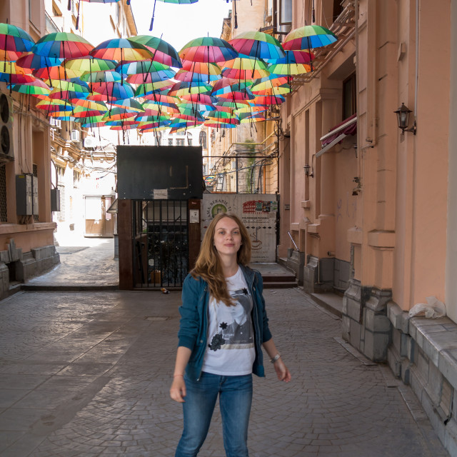 """Umbrella & Girl"" stock image"