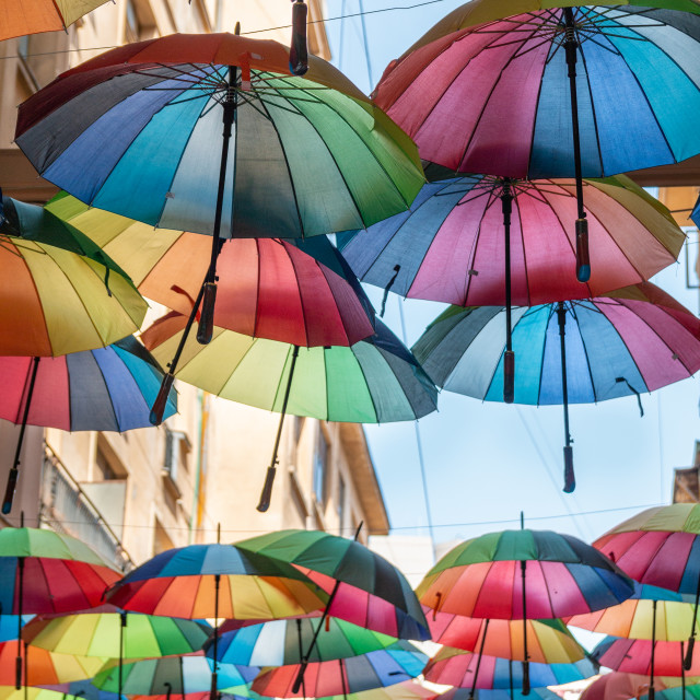 """Colorful Umbrellas"" stock image"