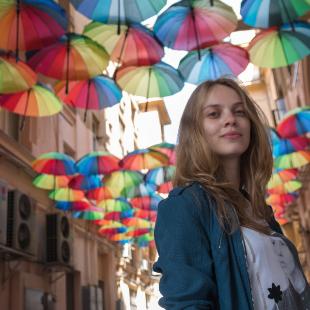 """Umbrella & Girl"" stock image"