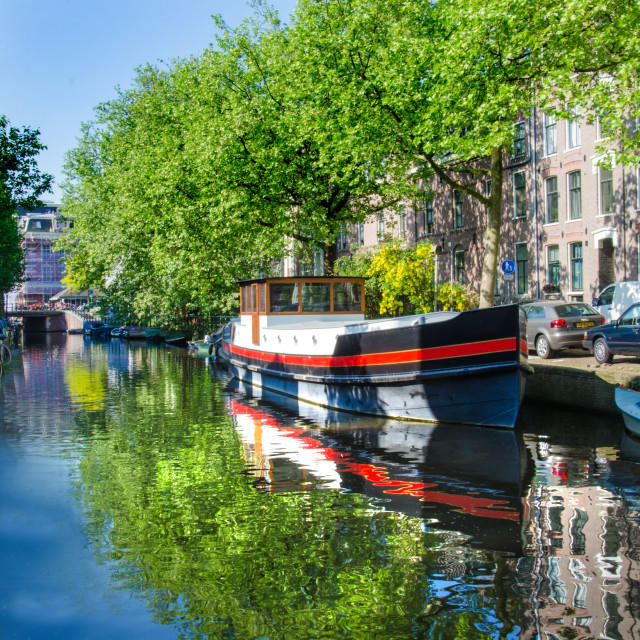 """""""Canal Boat"""" stock image"""