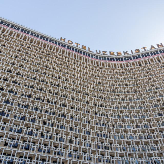 """Hotel Uzbekistan, Tashkent, Uzbekistan"" stock image"