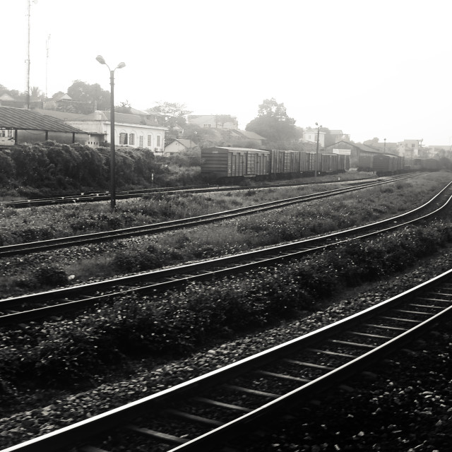 """Rail tracks"" stock image"