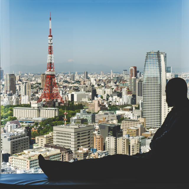"""Tokyo Waiting"" stock image"