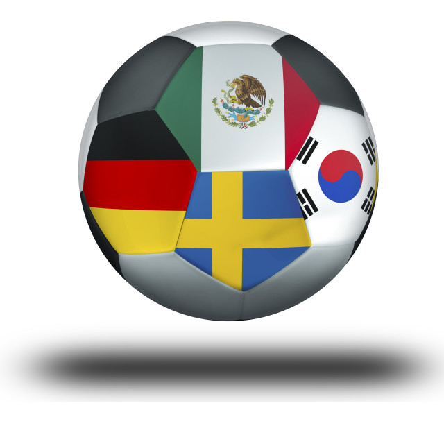 """Football Group F Mexico, Germany, Sweden, South Korea"" stock image"