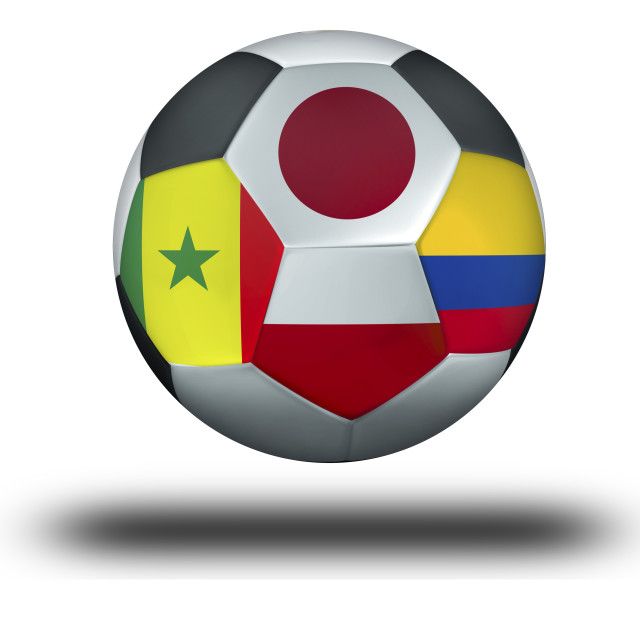"""Football group H Japan, Poland, Senegal, Colombia"" stock image"