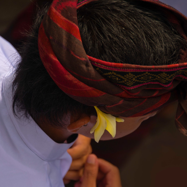 """Balinese Headgear"" stock image"
