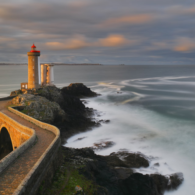 """The Petit Minou lighthouse - Brittany coast"" stock image"