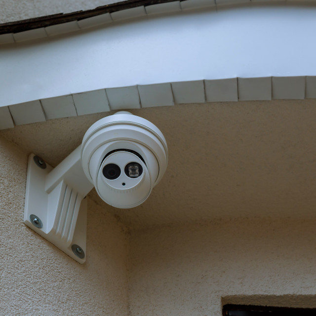"""Outdoor CCTV monitoring, security cameras."" stock image"