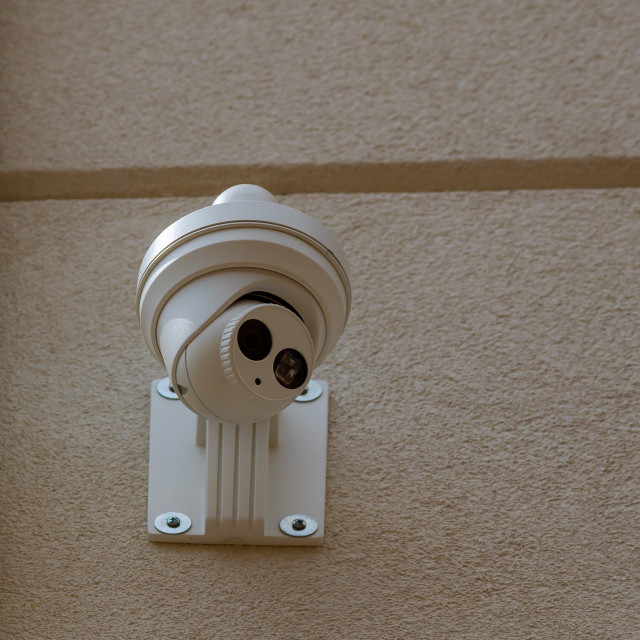 """""""Security camera Private property protection"""" stock image"""