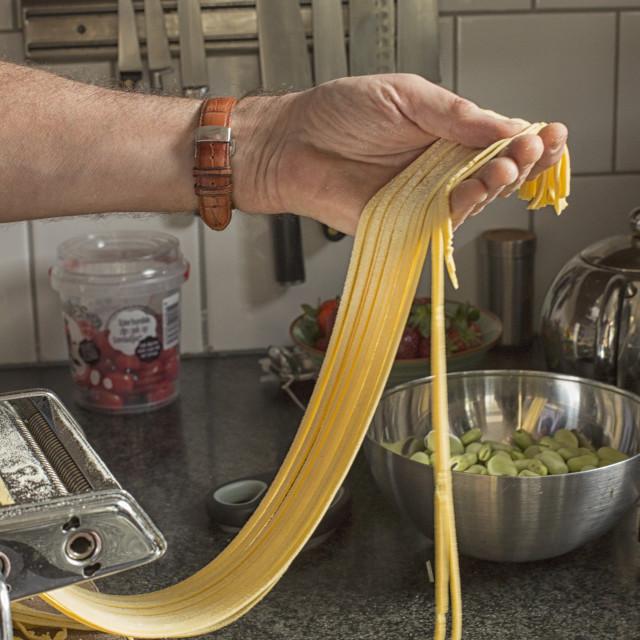 """Making pasta at home"" stock image"