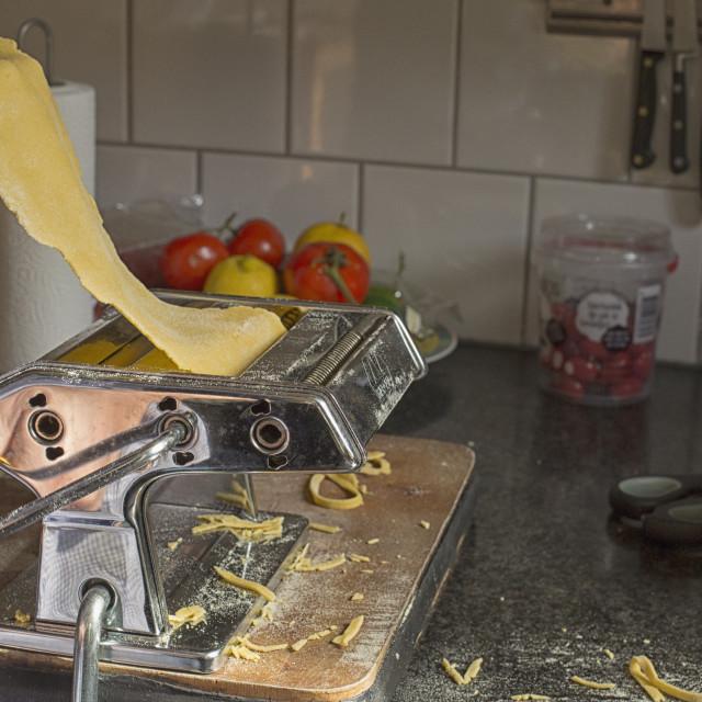 """""""Making pasta"""" stock image"""