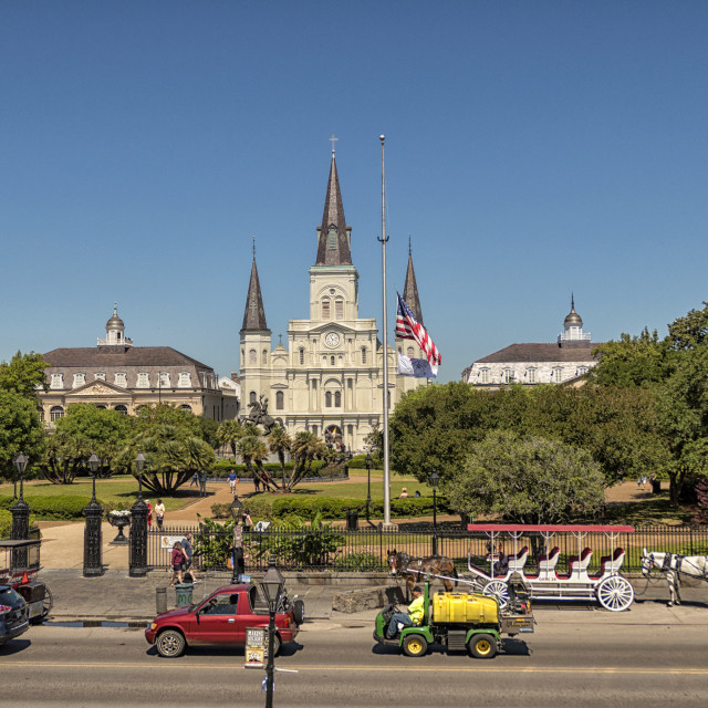 """""""Jackson Square, New Orleans"""" stock image"""