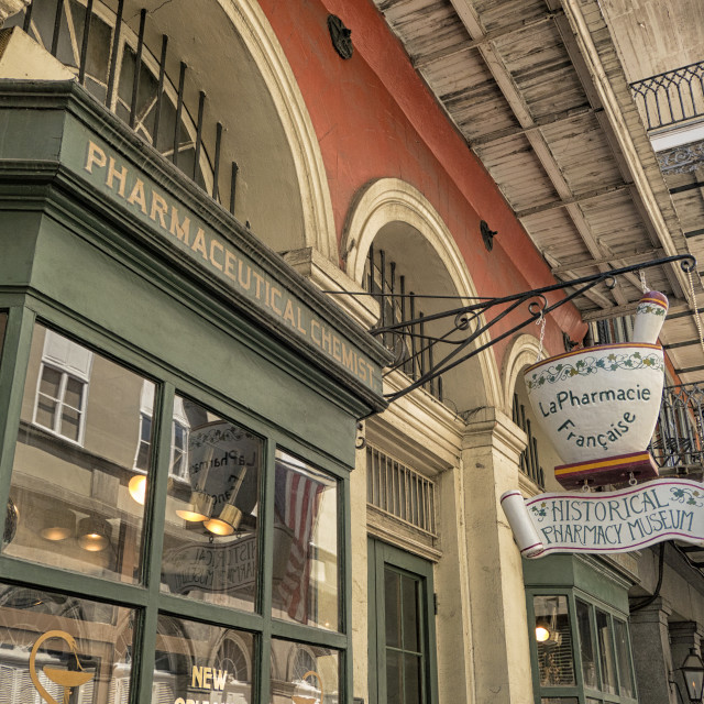 """Historical Pharmacy Museum entrance"" stock image"