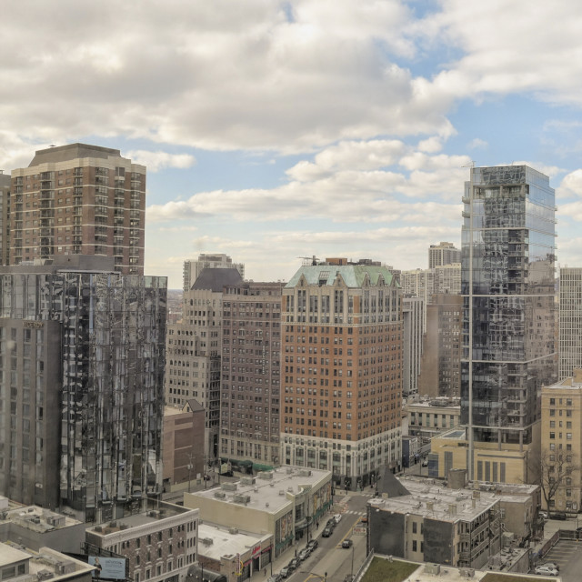 """"""":Chicago downtown gold coast panorama"""" stock image"""