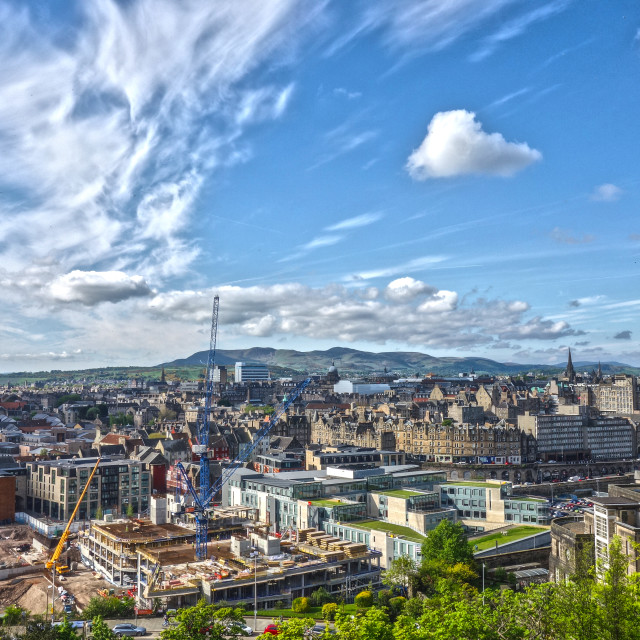 """Edinburgh- a city in the making!"" stock image"