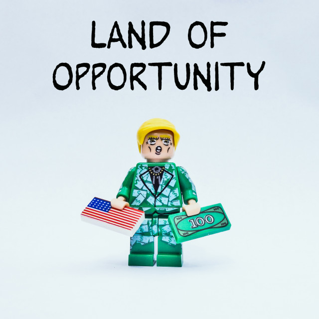"""Land of opportunity"" stock image"