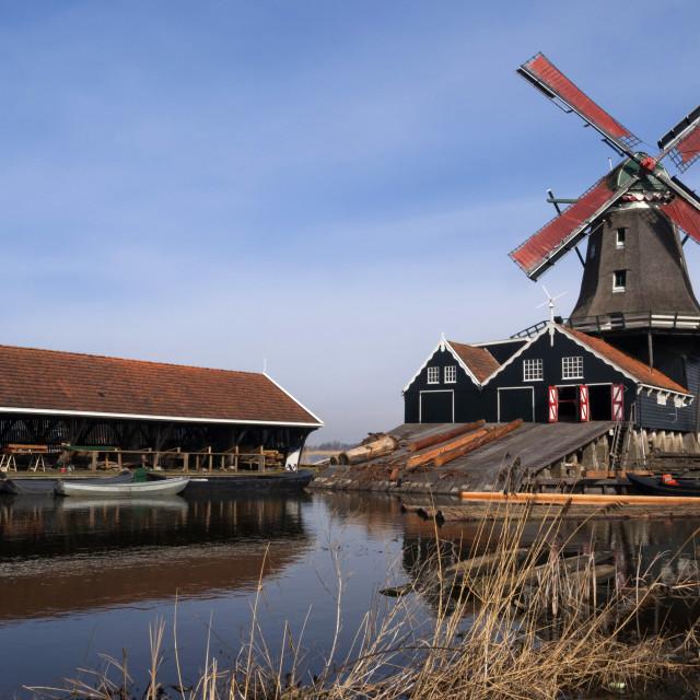 """""""Mill de Rat in IJlst"""" stock image"""