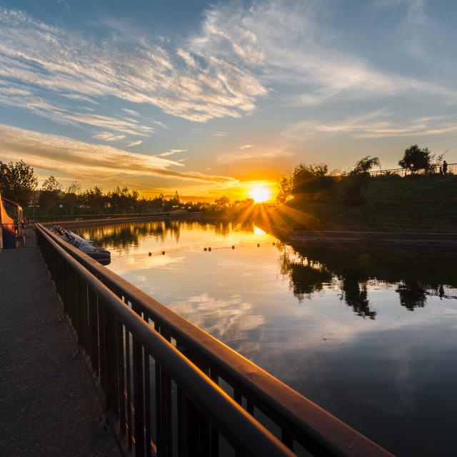 """Sunset \ Mirror"" stock image"