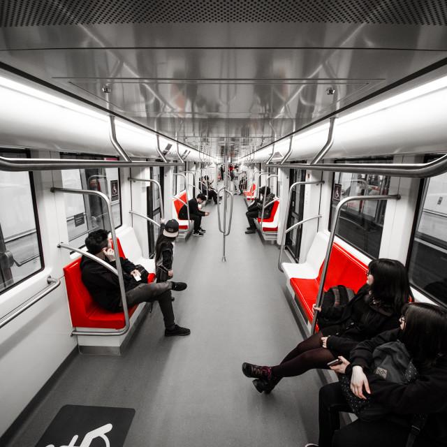 """Subway Train."" stock image"