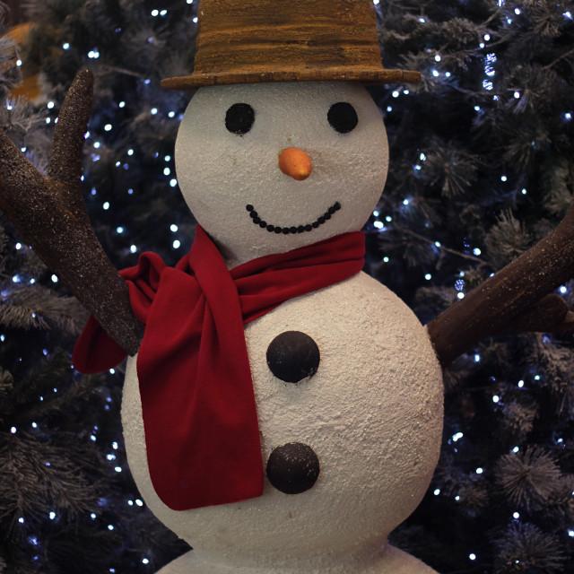 """""""Cozy Snowman"""" stock image"""