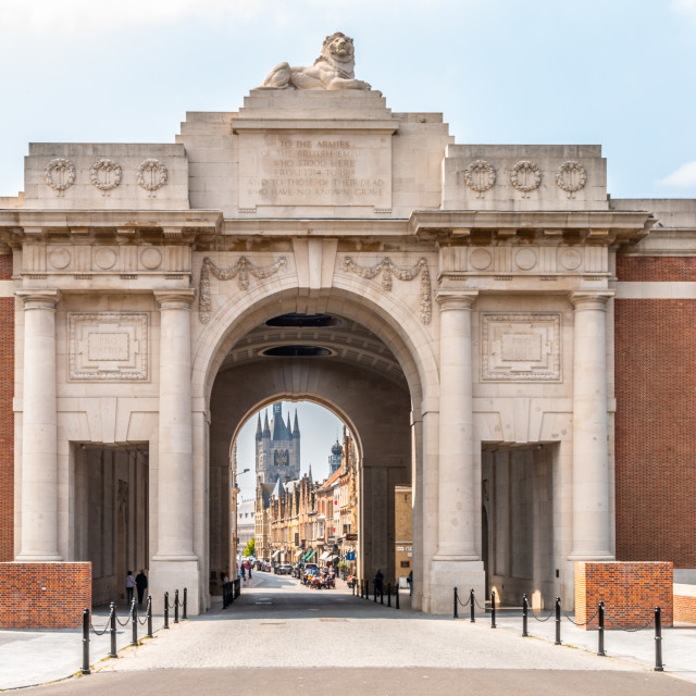"""Menin gate at Ypres Belgium"" stock image"