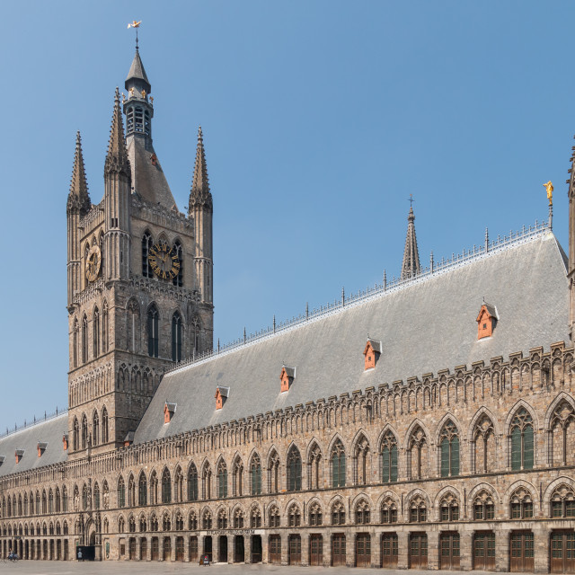 """Cloth hall at Ypres Belgium"" stock image"