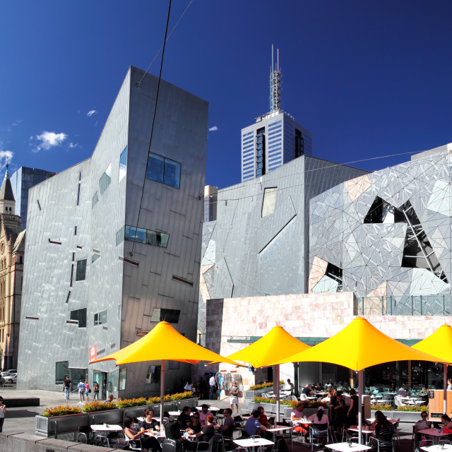 """Federation Square in Melbourne"" stock image"