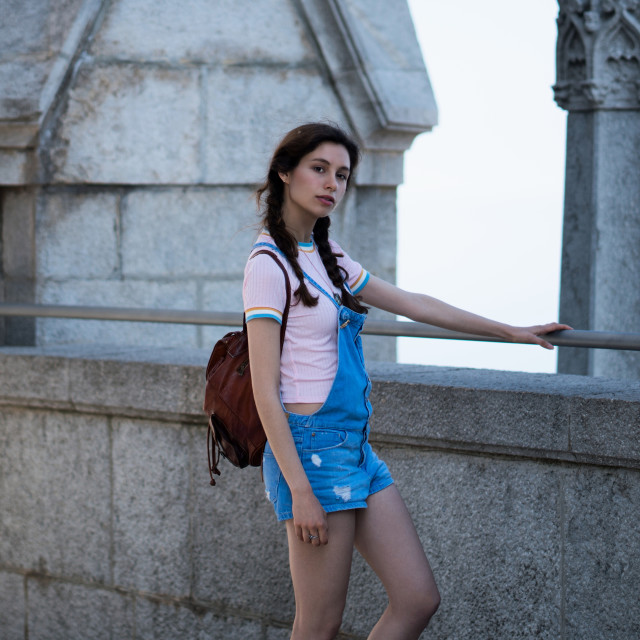 """Jessica P :: Young Sweetie in Tibidabo"" stock image"