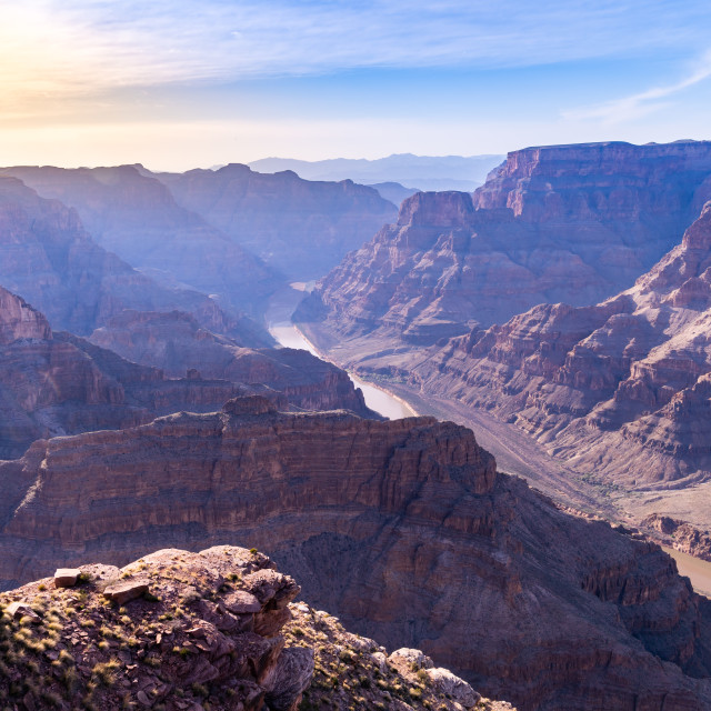"""""""West rim of Grand Canyon"""" stock image"""